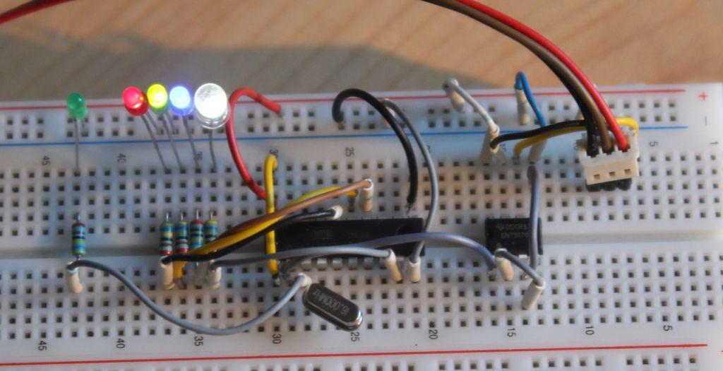 DMX LED Dimmer RGBW Steckbrett